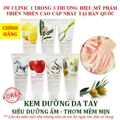 KEM DƯỠNG DA TAY 3W Clinic Hand Cream 100ml