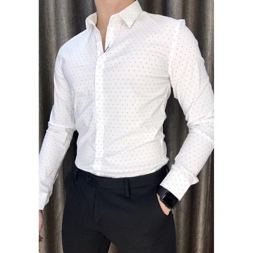 Áo sơ mi nam chấm bi họa tiết vải cotton đẹp nhiều màu form lịch sự công sở - 9087416 , 18777205 , 15_18777205 , 225000 , Ao-so-mi-nam-cham-bi-hoa-tiet-vai-cotton-dep-nhieu-mau-form-lich-su-cong-so-15_18777205 , sendo.vn , Áo sơ mi nam chấm bi họa tiết vải cotton đẹp nhiều màu form lịch sự công sở