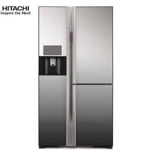 Tủ lạnh làm đá tự động dòng Side By Side Mirror Hitachi Inverter 584 lít R-FM800GPGV2X