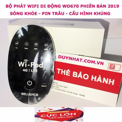 Cục phát wifi di động không dây WD670, đa mạng, sóng khỏe, pin trâu - 5016853 , 18771284 , 15_18771284 , 1000000 , Cuc-phat-wifi-di-dong-khong-day-WD670-da-mang-song-khoe-pin-trau-15_18771284 , sendo.vn , Cục phát wifi di động không dây WD670, đa mạng, sóng khỏe, pin trâu