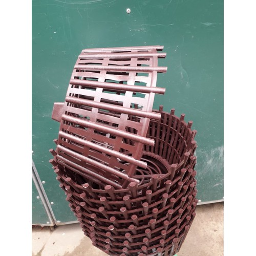 Bộ 5 chậu giả gỗ phi 27 trồng lan - chậu giả gỗ kích thước 27x14x20cm