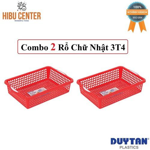 Combo 2 Rổ Chữ Nhật 3T4 Duy Tân 50 x 34 x 11.5 cm No.224
