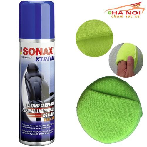 Làm sạch bảo dưỡng da cao cấp Sonax và bọt biển quai xỏ