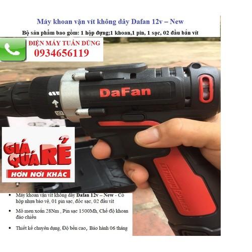 Máy khoan bắn vít không dây Dafan 12v – New, khoan pin 12V tiện lợi cho mọi gia đình - 5017390 , 18774647 , 15_18774647 , 350000 , May-khoan-ban-vit-khong-day-Dafan-12v-New-khoan-pin-12V-tien-loi-cho-moi-gia-dinh-15_18774647 , sendo.vn , Máy khoan bắn vít không dây Dafan 12v – New, khoan pin 12V tiện lợi cho mọi gia đình