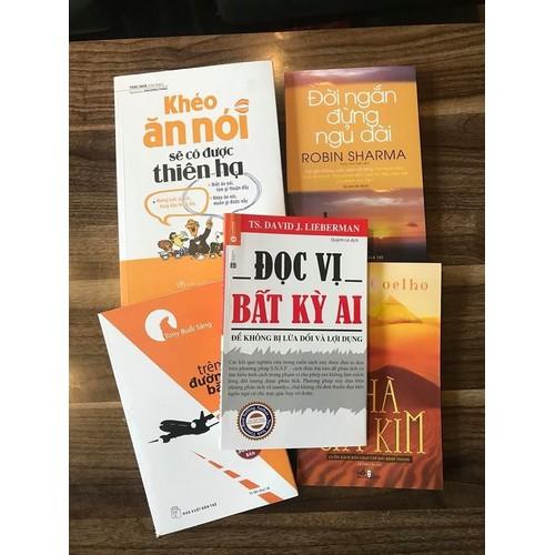 Sách - Combo 5 Cuốn Sách Khéo Ăn Nói + Đọc Vị Bất Kỳ Ai + Đời Ngắn + Tony Trên Đường Băng + Nhà Giả Kim