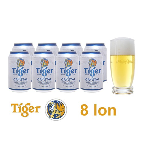 8 lon bia Tiger Crystal - 7658208 , 18780204 , 15_18780204 , 183000 , 8-lon-bia-Tiger-Crystal-15_18780204 , sendo.vn , 8 lon bia Tiger Crystal