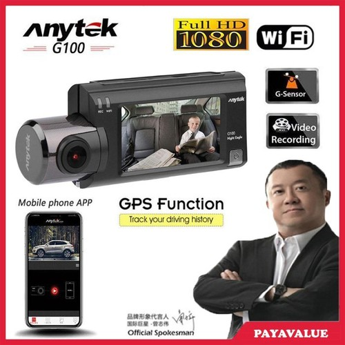 Camera Hành Trình Anytek G100 Full HD IPS - Tích hợp GPS, Wifi