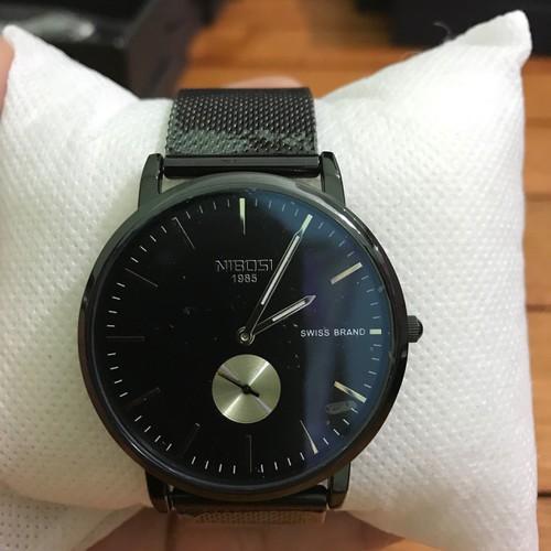 Đồng hồ Nam Nibosi2361 G [ chính hãng, full hộp , sách , khăn lau , thẻ bảo hàng chính hãng ] chống nước , chống xước G