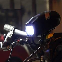 Đèn Pin trên xe đạp có còi báo hiệu kèm đế kẹp  TI213