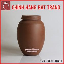 Chum sành không tráng men 10l cổ to cao cấp gốm sứ Bảo Khánh Bát Tràng - chum rươu, bình rươu, bình ngâm rươu
