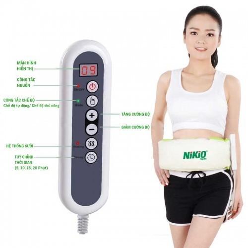 Máy massage giảm mỡ bụng Nhật Bản Nikio NK-168 - Trắng phối xanh