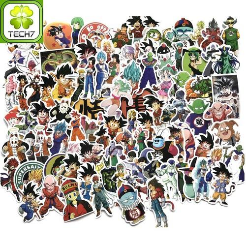 Bộ 100 miếng Sticker hình dán Dragon Ball