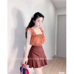sét áo và chân váy model