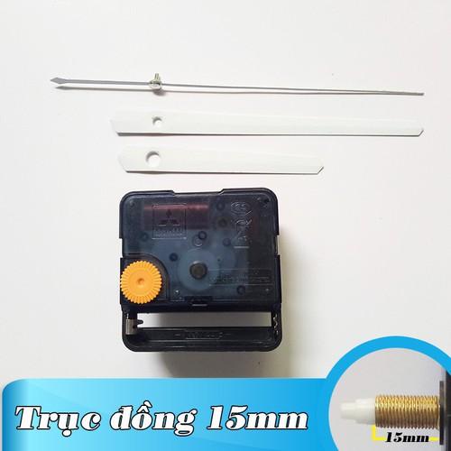Kim trôi - Bộ kim trắng 11cm và Máy đồng hồ treo tường Đài Loan loại tốt - Trục 15mm