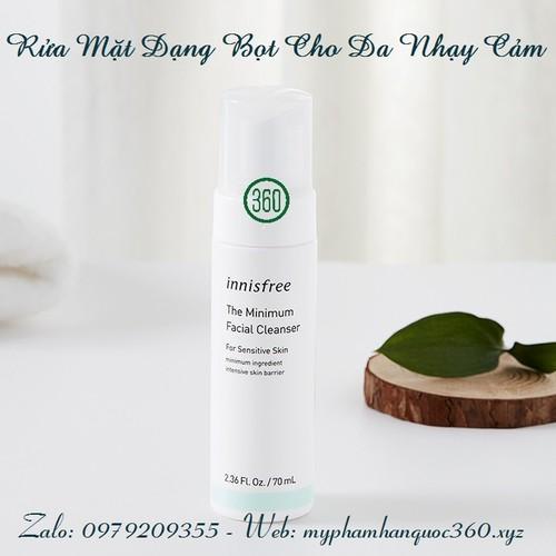 Sữa Rửa Mặt Cho Da Nhạy Cảm Innisfree. The Minimum Facial Cleanser 70ml
