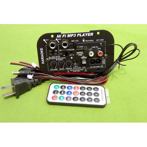 Bảng mạch loa kéo DP1 12V 24V 220V Bass 70W + Treble 20W