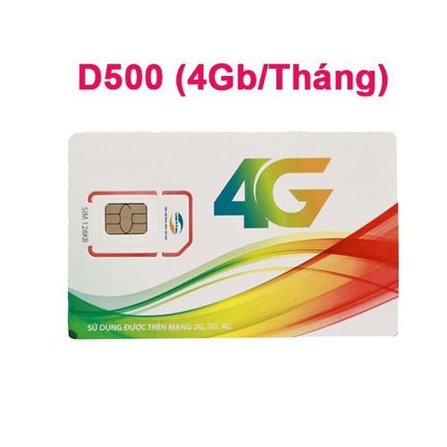 Sim 4G Viettel D500 1 năm không nạp