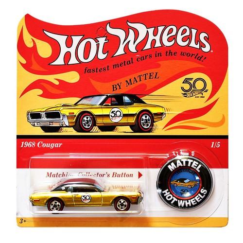 Xe mô hình tỉ lệ 1:64 Hot Wheels 50th Anniversary Originals 1968 Cougar