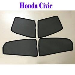 Bộ rèm che nắng theo xe HONDA CIVIC mới nhất, tiện lợi nhất , khắc phục hoàn toàn các khuyết điểm của những bộ rèm che nắng xe hơi trên thị trường hiện nay