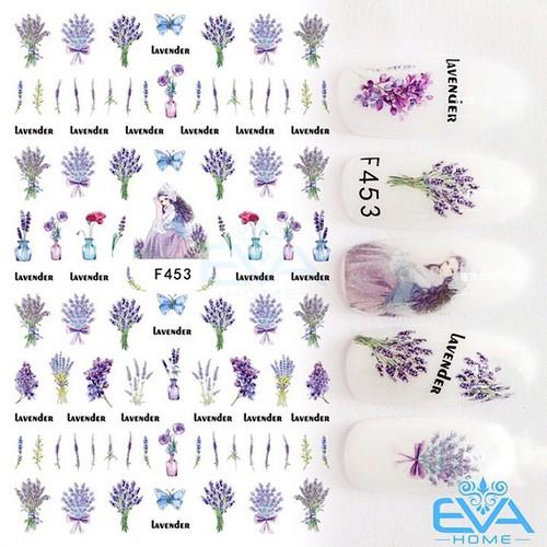 Miếng Dán Móng Tay 3D Nail Sticker Tráng Trí Hoạ Tiết Bông Hoa F453