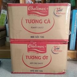 Tương cà, tương ớt Gói Cholimex 10g - 1 thùng 800 gói, SL tùy chọn