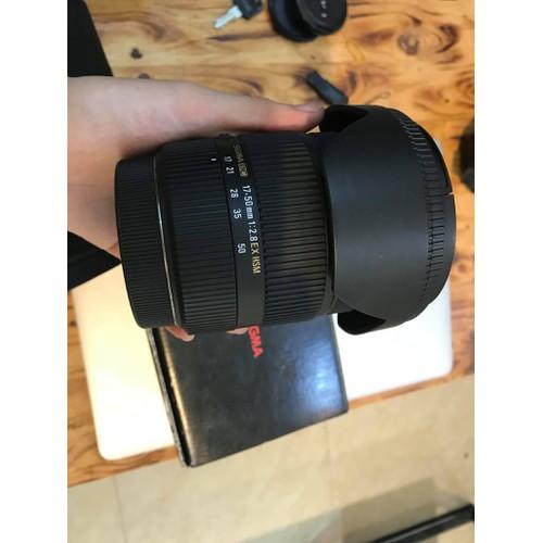 Ống kính SIGMA 17-50 f2.8 đẹp như mới