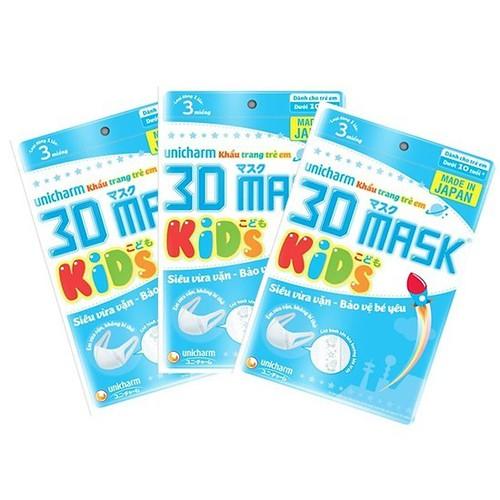 3 Gói khẩu trang 3D Unicharm dành cho bé + 9 miếng - 9096017 , 18790985 , 15_18790985 , 35000 , 3-Goi-khau-trang-3D-Unicharm-danh-cho-be-9-mieng-15_18790985 , sendo.vn , 3 Gói khẩu trang 3D Unicharm dành cho bé + 9 miếng