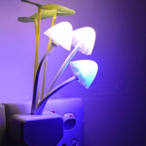 Đèn ngủ hình nấm mini trong phòng