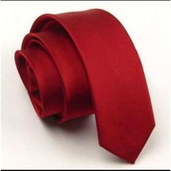 Cà vạt nam Hàn Quốc- cà vạt bản nhỏ- cà vạt đỏ chú rể bê lễ đồng phục