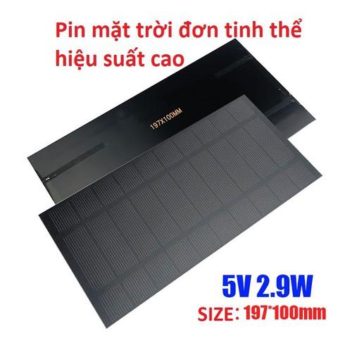 Pin năng lượng mặt trời 5V Size 197x100