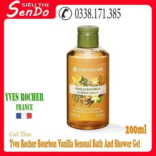 Gel tắm BOURBON VANILLA SENSUAL BATH AND SHOWER GEL 200ML