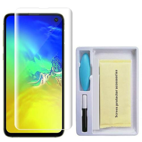 Kính cường lực Samsung S10e, Miếng dán cường lực UV Nano full màn cho Samsung S10e