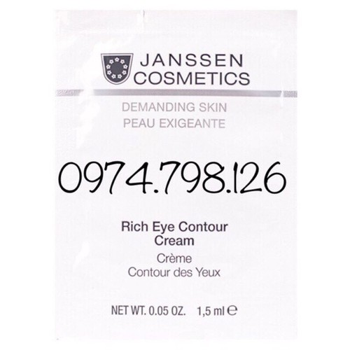 ?KEM CUNG CẤP ẨM CHỐNG NHĂN VÙNG MẮT RICH EYE CONTOUR CREAM 1,5ML Janssen Cosmestic