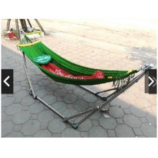 Võng Xếp Khung Inox Cỡ Đại Kèm Lưới Võng Hòa Hậu - vxhh thumbnail