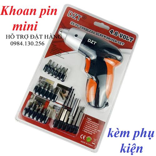 Máy khoan và vặn vít dùng pin mini DZT kèm phụ kiện - 9099431 , 18795967 , 15_18795967 , 420000 , May-khoan-va-van-vit-dung-pin-mini-DZT-kem-phu-kien-15_18795967 , sendo.vn , Máy khoan và vặn vít dùng pin mini DZT kèm phụ kiện