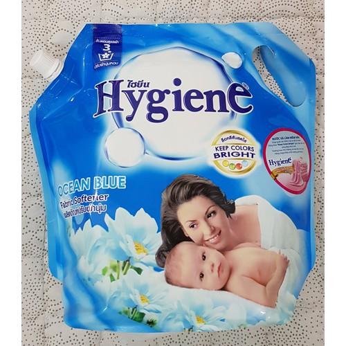 Nước xả vải Hygiene bịch 1800ml Thái Lan - Bịch màu xanh Ocean Blue