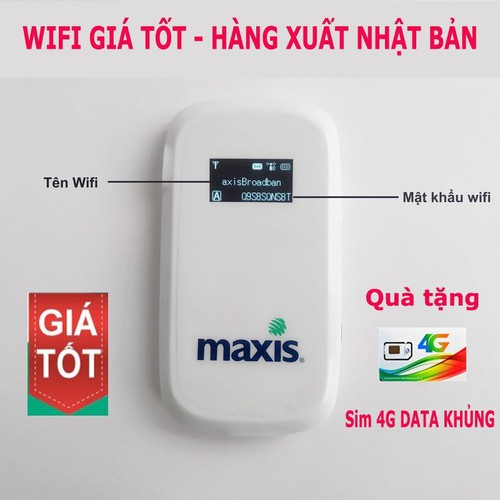 Router Wifi 3G 4G Maxis MF60 - Phát Wifi Mạnh Cực Mạnh