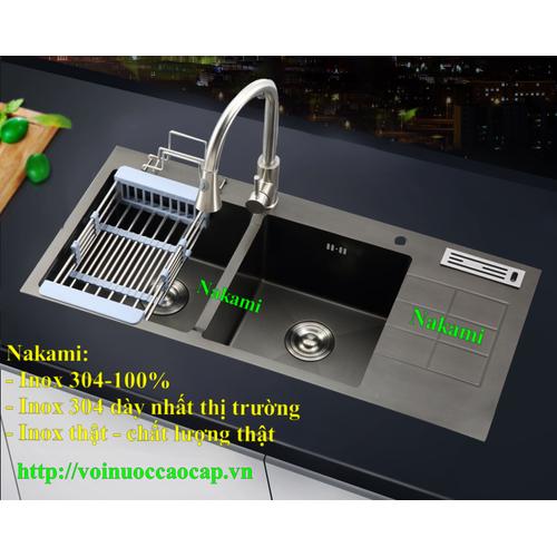 Chậu Rửa Chén Inox 304 Đúc Phủ Nano đen Nakami NAC-1010 - 9094587 , 18789084 , 15_18789084 , 7500000 , Chau-Rua-Chen-Inox-304-Duc-Phu-Nano-den-Nakami-NAC-1010-15_18789084 , sendo.vn , Chậu Rửa Chén Inox 304 Đúc Phủ Nano đen Nakami NAC-1010