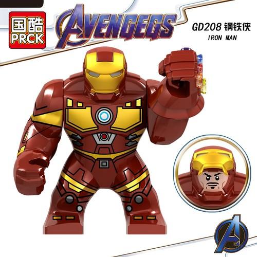 BIGFIG Nhân Vật Iron Man Full Đá Vô Cực - Lắp Ráp Mini Big Người Sắt GD208