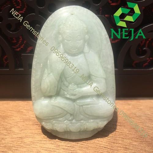 Mặt Dây Chuyền Phật Bản Mệnh A Di Đà Ngọc Cẩm Thạch 5cm - NEJA Gemstones