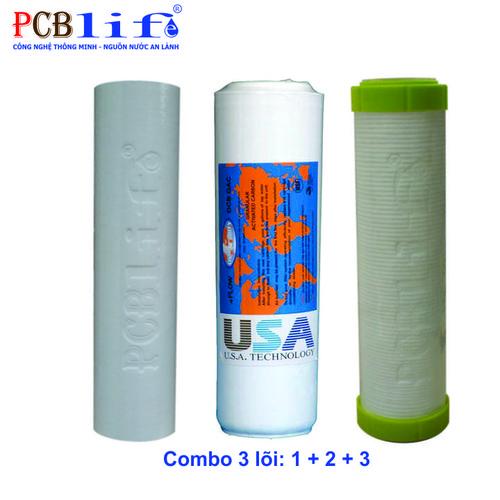 Combo 3 Lõi Lọc Thô: 1 + 2 + 3 - Máy Lọc Nước PCBlife