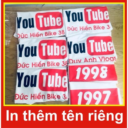áo phông youube, áo youtube, áo thun youtube, in áo youtube, in tên áo youtube
