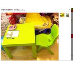 bộ bàn ghế trẻ em 1 bàn 1 ghế