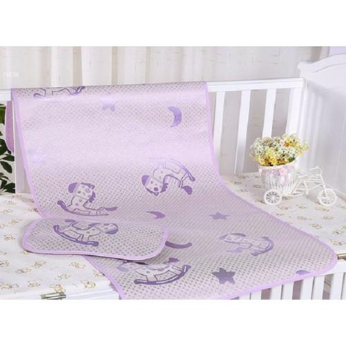 Chiếu lụa điều hòa trẻ em kèm gối cho bé ngủ ngon 60x120cm