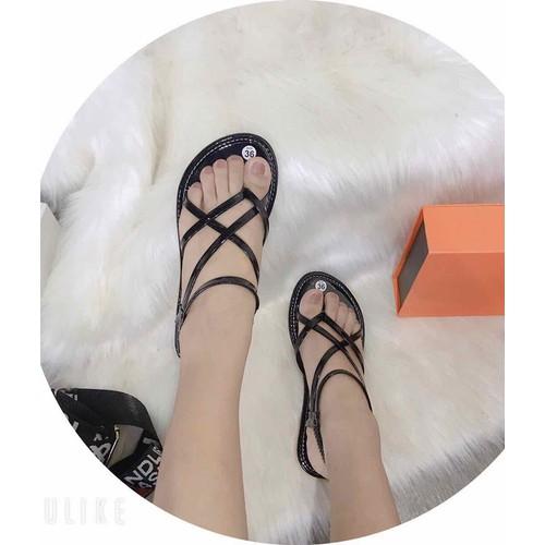 Sandal kẹp đan dây