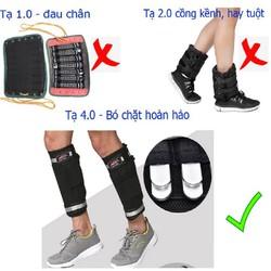 Tạ đeo chân 4 kg - tạ đeo chân 4 kg | tạ đeo chân 4kg thế hệ 4.0 - êm hơn, ưu việt hơn, bền bỉ hơn