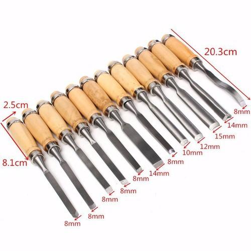 bộ 12 mũi dao đục khắc gỗ cao cấp