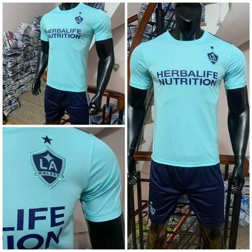 Bộ quần áo bóng đá LA Galaxy 2019-20 xanh ngọc
