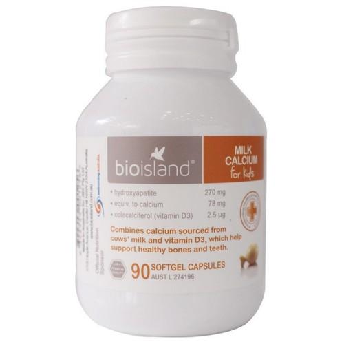 Bổ sung Canxi sữa - Bio Island Milk Canxi 90 viên