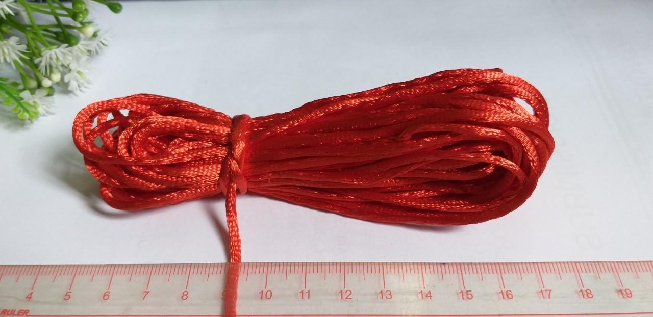 Hình ảnh giảm giá 10 met dây dù 3mm đan vòng, làm móc khóa, đan vòng nhóm, dây tim loại xin